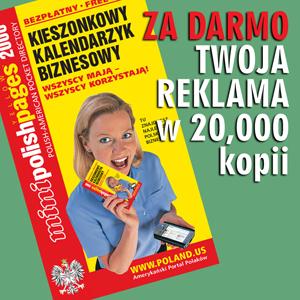Darmowa reklama w 20,000 kalendarzy i w internecie!