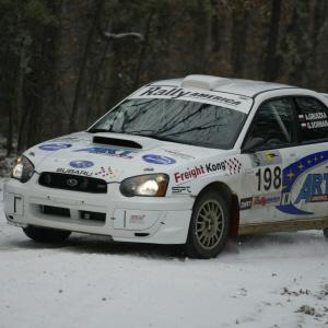 Zima zaskoczyla rajdowcow - Trzecie miejsce Gruszki w Trespassers Wil Rally