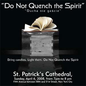 """""""Do Not Quench the Spirit"""" - """"Ducha nie gaście"""""""