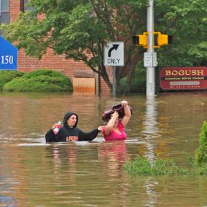 Po huraganie Irene - polskie Wallington wyspą (nowe zdjęcia!)