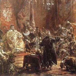 """Hold Ruski - Jan Matejko's 19th century famous painting - """"Under Arrest""""."""