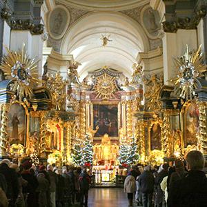 Szopka bożonarodzeniowa w Kościele Bernardynów w Krakowie