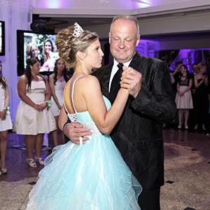 Taniec z tatą. Kasia z Zigim.