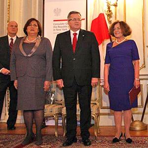 Anna Komorowska, prezydent Bronisław Komorowski oraz Konsul Generalna RP w Nowym Jorku Ewa Juńczyk-Ziomecka. Zdjęcia: Zosia Żeleska-Bobrowski - www.Poland.us