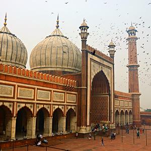 Old Delhi India - Masjid-i Jahan-Numa mosque