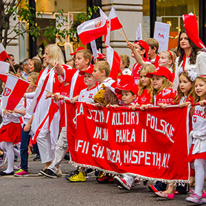 Participants of the 76th Annual Pulaski Day Parade held on September 6, 2013 in New York. Fot. Elżbieta Sekowska / Bigstock