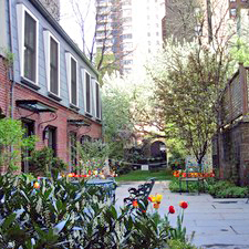 The garden at the Cervantes Institute in New York
