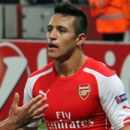 Celebrating Alexis Sánchez\'s first Arsenal goal. Fot. Ronnie Macdonald, CC BY 2.0 via Wikipedia