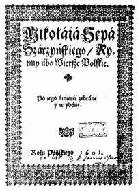 Autograf Sępa-Sarzyńskiego
