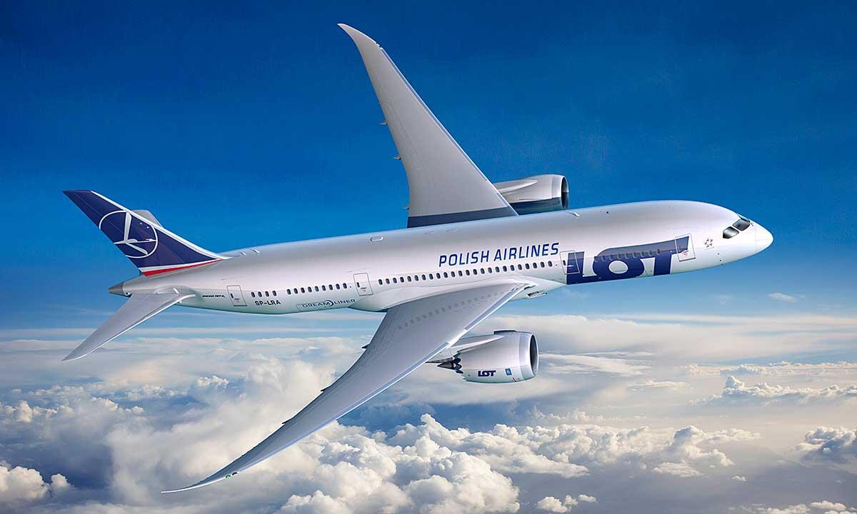 Linie Lotnicze LOT na bezpośrednie loty z USA do Polski i z powrotem