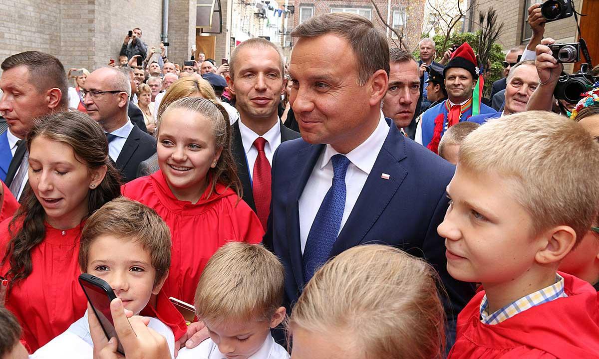 Prezydent Andrzej Duda w Nowym Jorku. Fot. Zosia Żeleska Bobrowski dla Portalu www.Poland.us. Wydawca Polonijna Książka Polish American Pages