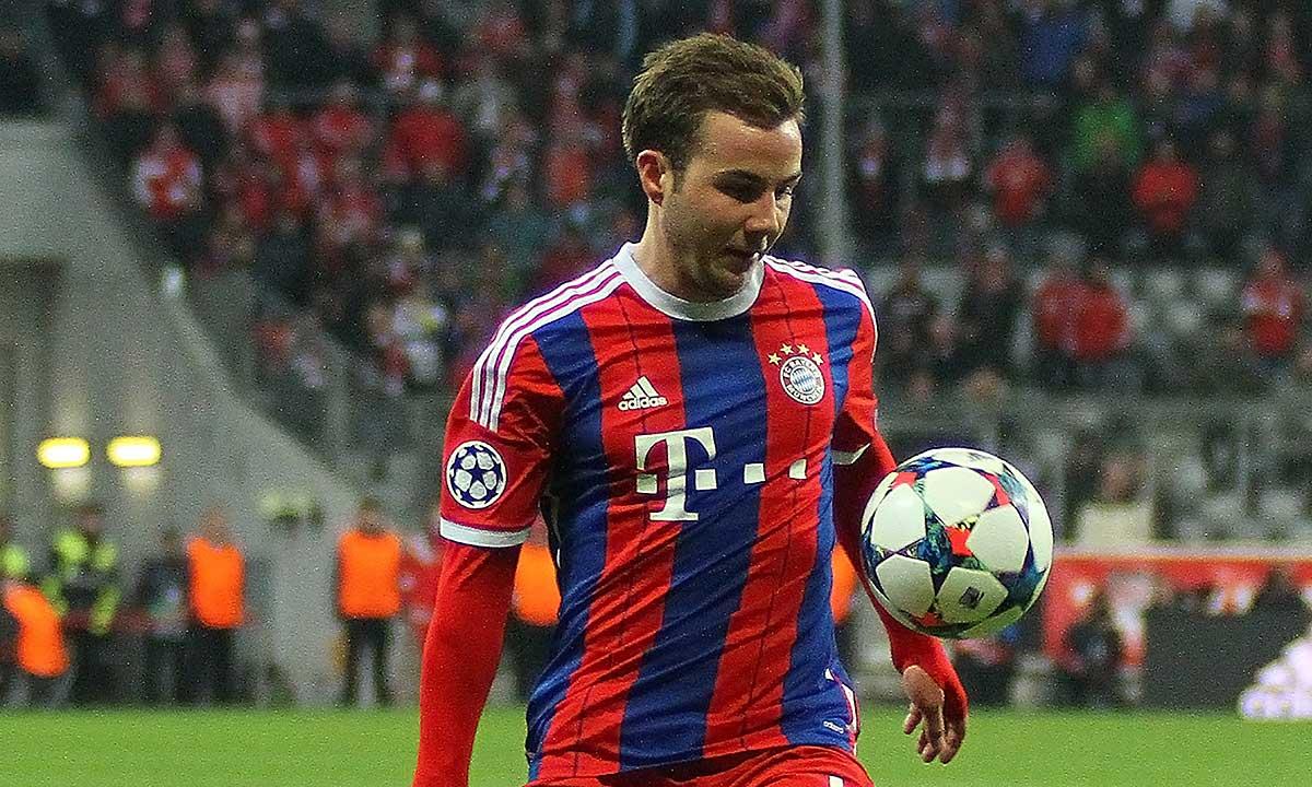 Bayern Munich's midfielder Mario Gotze during the UEFA Champions League match. Fot. Sportsphotographer.eu