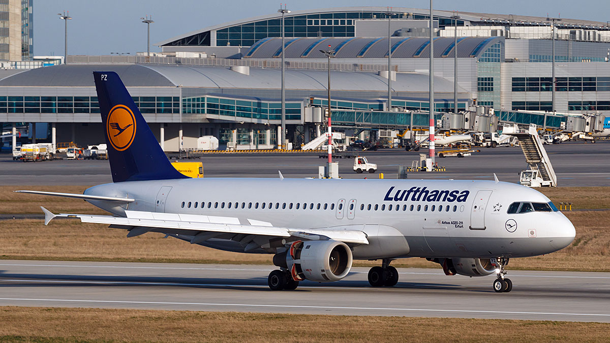 Airbus A320 of Lufthansa. Lufthansa is the flag carrier of Germany. Foto: Rebec