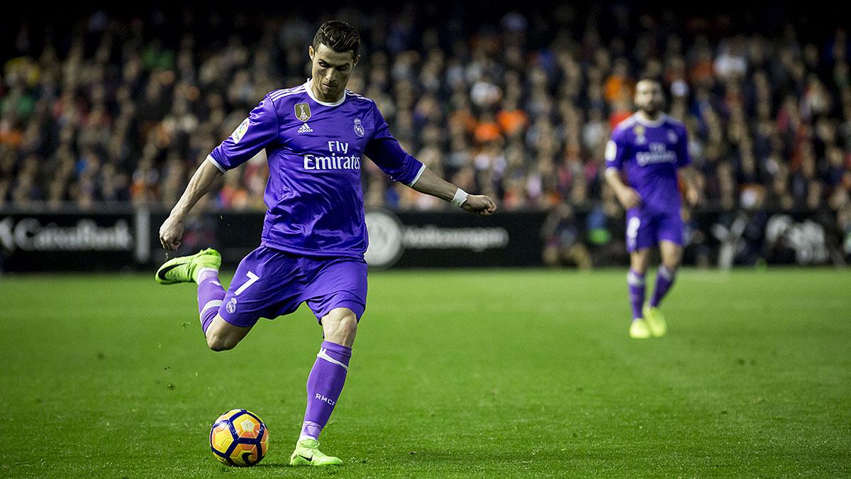 Cristiano Ronaldo during La Liga soccer match. Foto: LevanteMedia