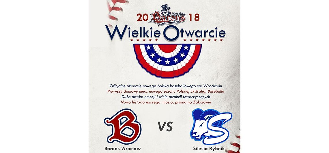 We Wrocławiu wielkie otwarcie stadionu baseballowego