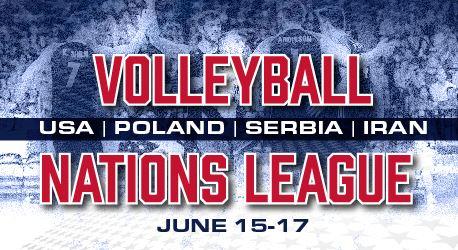 Siatkarska Liga Narodów w Chicago. Mecz Polska vs USA