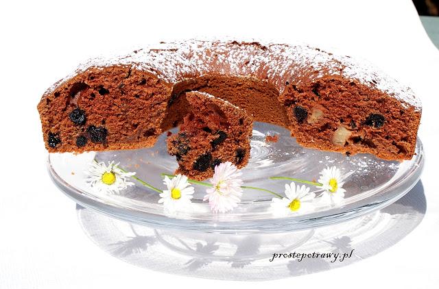 Przepis na sobotę na ciasto kakaowe z aronią