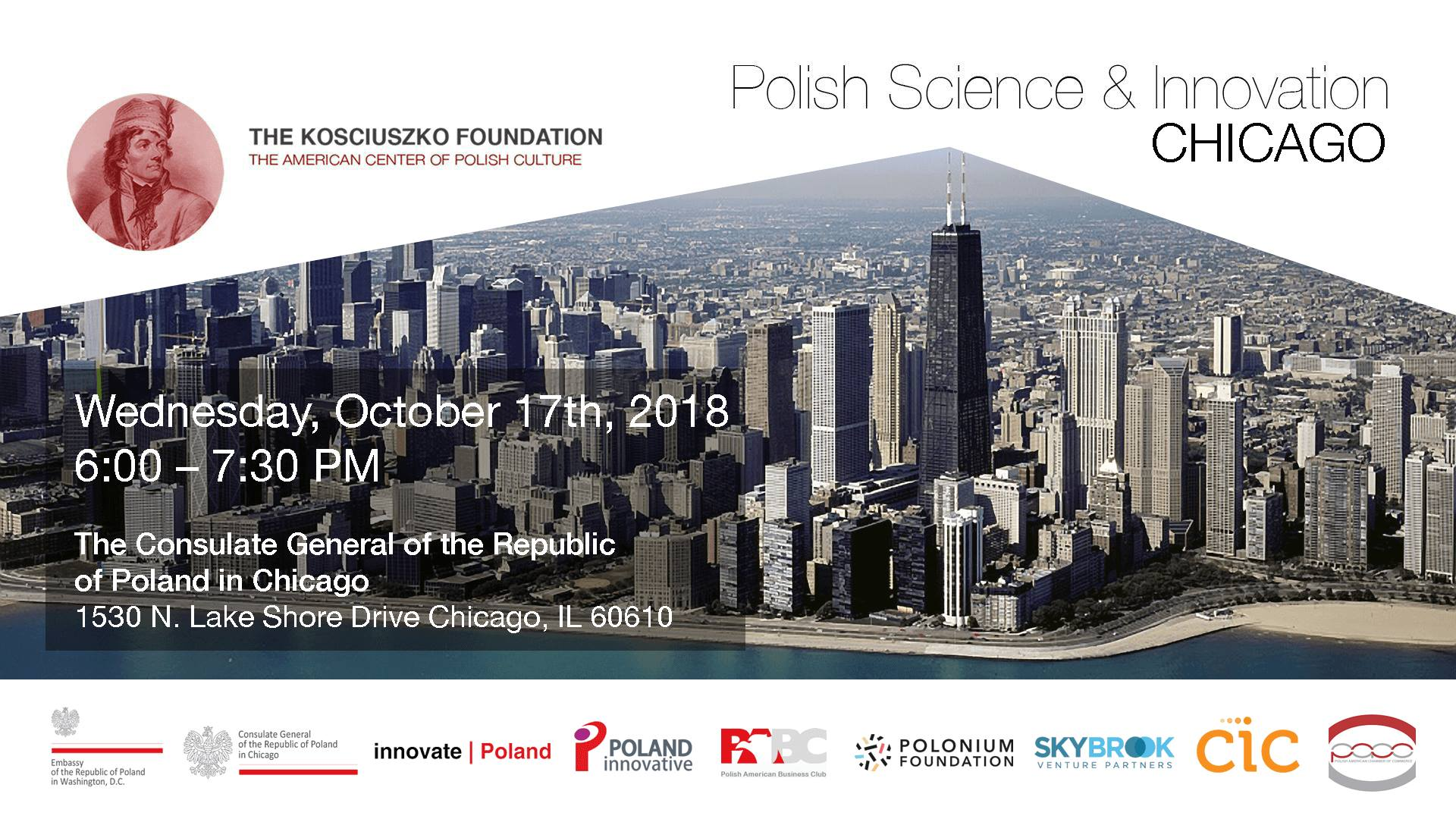 The Kosciuszko Foundation  Invites You to an Evening of Polish Science & Innovation: Chicago.