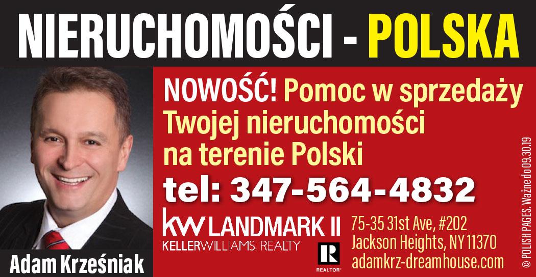 Pomoc w USA przy sprzedaży lub zakupie domu i mieszkania w Polsce - Adam Krzesniak