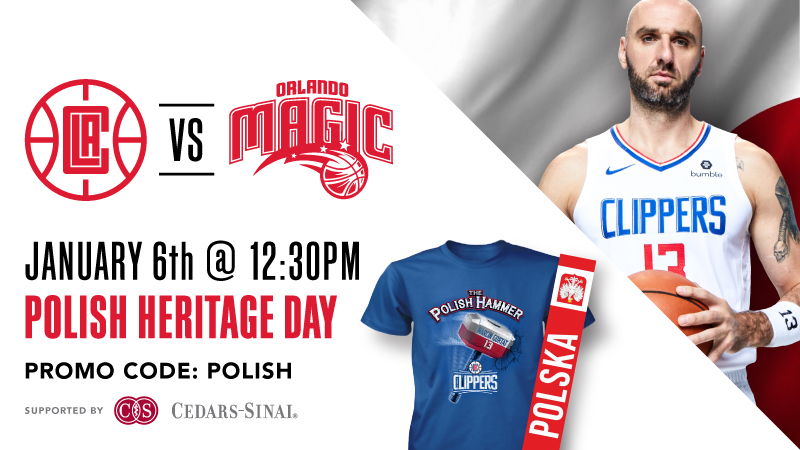 Polish Heritage Day with Marcin Gortat and LA Clippers