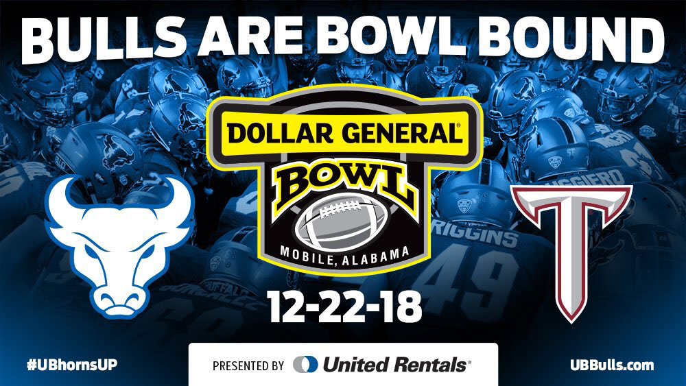 Buffalo and Troy at the 2018 Dollar General Bowl in Mobile