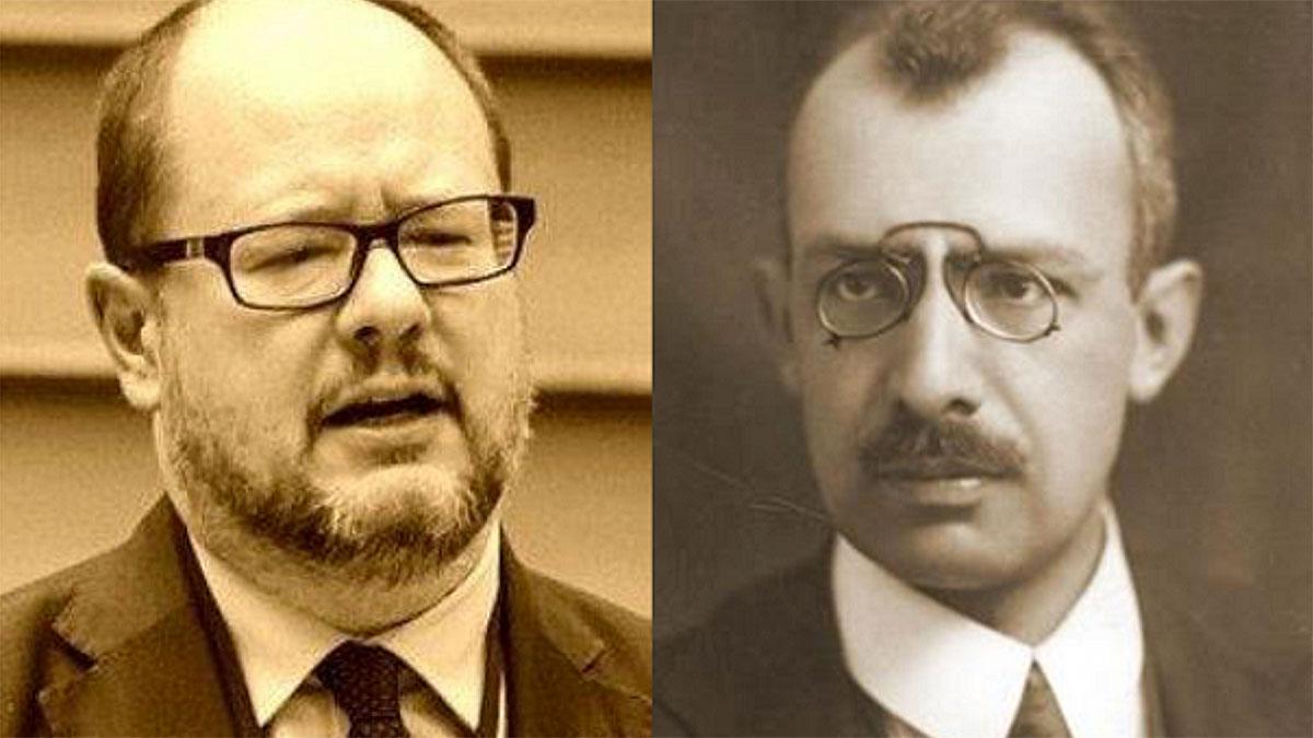 Paweł Adamowicz i Marian Cynarski zamordowani prezydenci Gdańska i Łodzi. Foto: Wikipedia (oba zdjęcia)