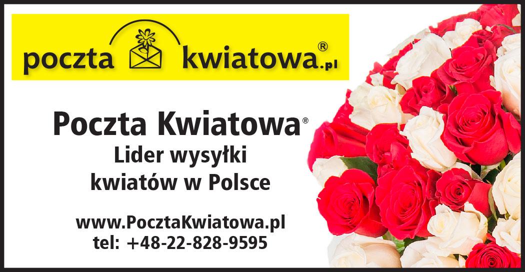 Kwiaty i prezenty na Walentynki do Polski z Poczty Kwiatowej