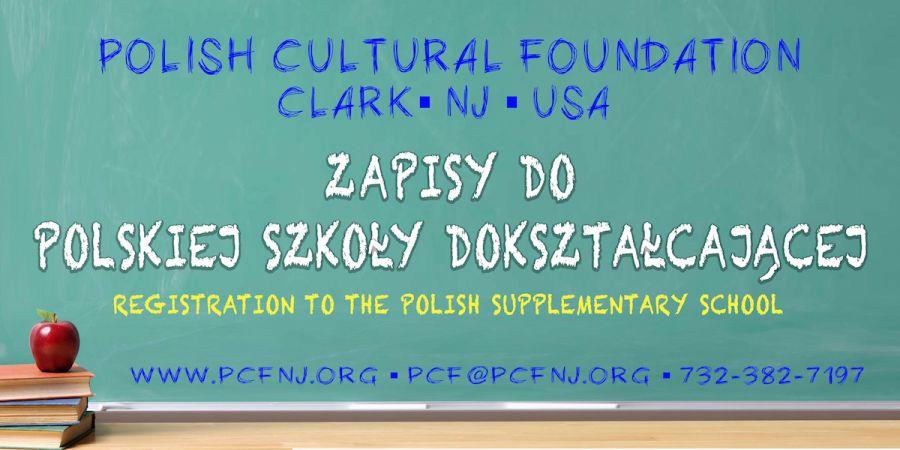 NJ: Zapisy do polskiej szkoły dokształcającej na rok 2019/2020