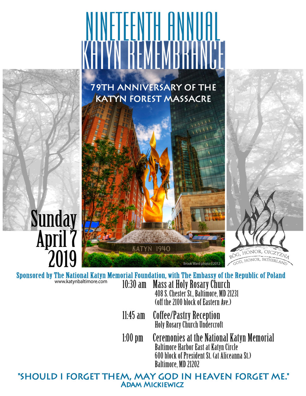 Nineteenth Annual Katyń Remembrance in Baltimore, MD
