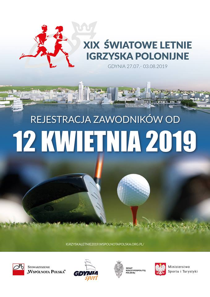 Rejestracja do XIX ŚWIATOWYCH LETNICH IGRZYSK POLONIJNYCH GDYNIA 2019 od 12 kwietnia
