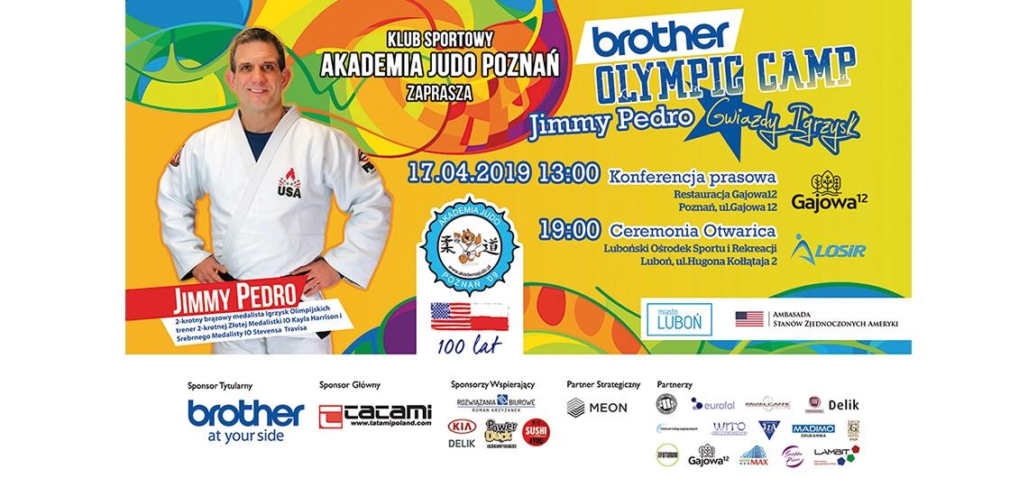 Jimmy Pedro z USA, medalista olimpijski, na judo Olympic Camp w Luboniu