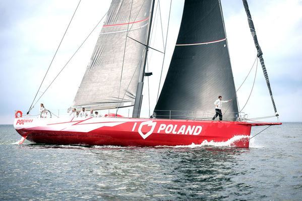 Jacht I Love Poland  w Nowym Jorku, w North Cover Marina at Bookfield Place