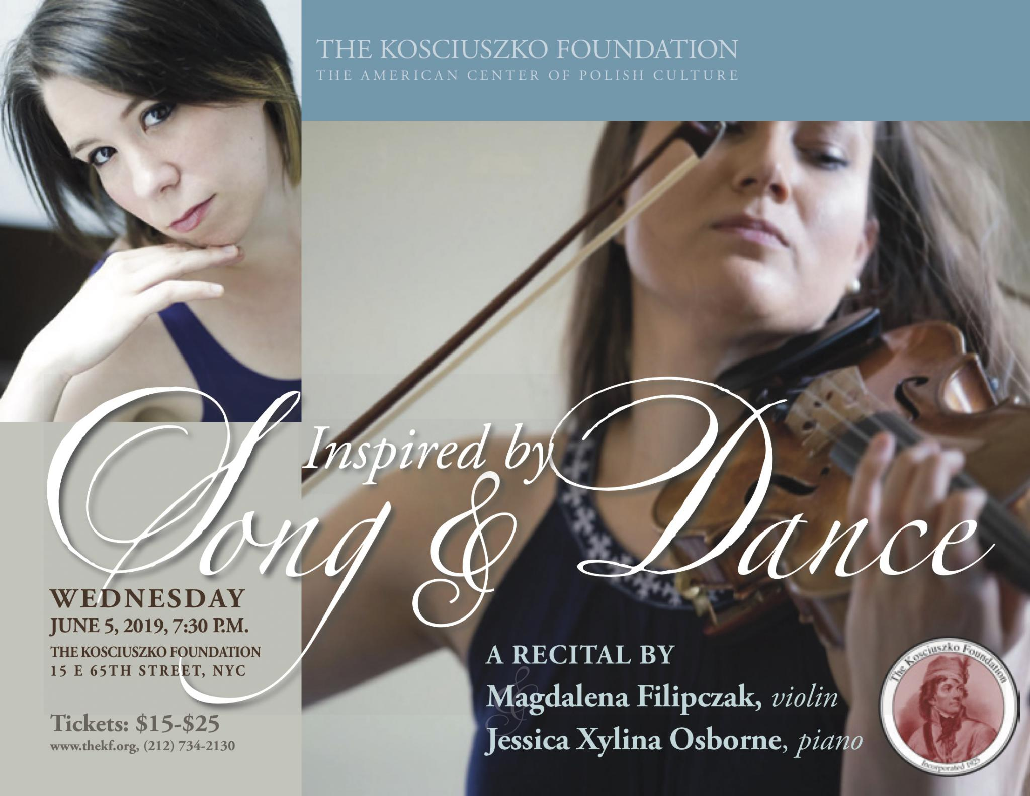 NYC: Recital by Magdalena Filipczak and Jessica Xylina Osborne - Inspired by Song and Dance