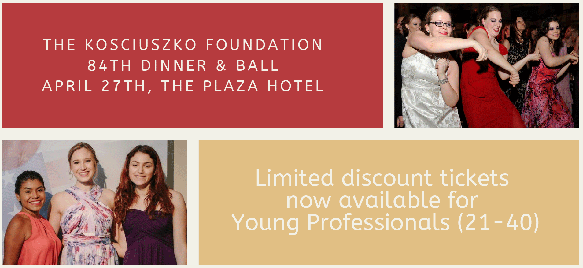 New York: Discount Tickets for Young Professionals to Attend KF Dinner and Ball
