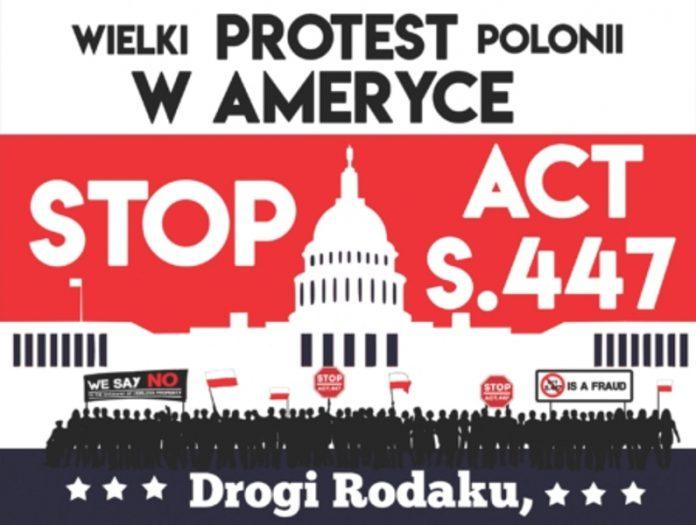 Wielki Protest Polonii w Ameryce, pod Białym Domem i w Chicago, przeciwko ustawie S.447
