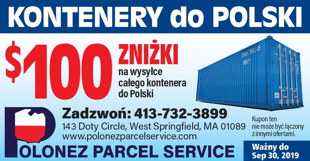 $100 taniej transport kontenerów do Polski z USA z Polonez Parcel