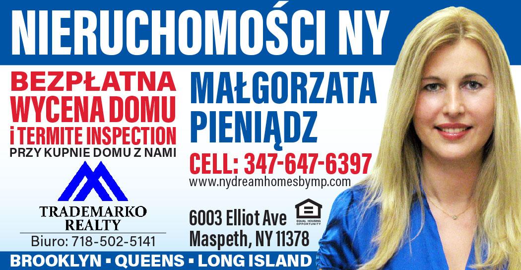 Nieruchomości w Nowym Jorku u Małgorzaty Pieniądz z darmową inspekcją domu