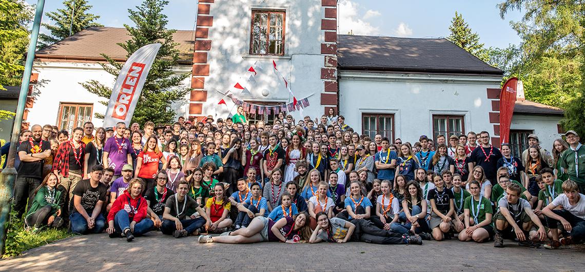 Polscy harcerze przed wyjazdem do USA na 24. World Scout Jamboree