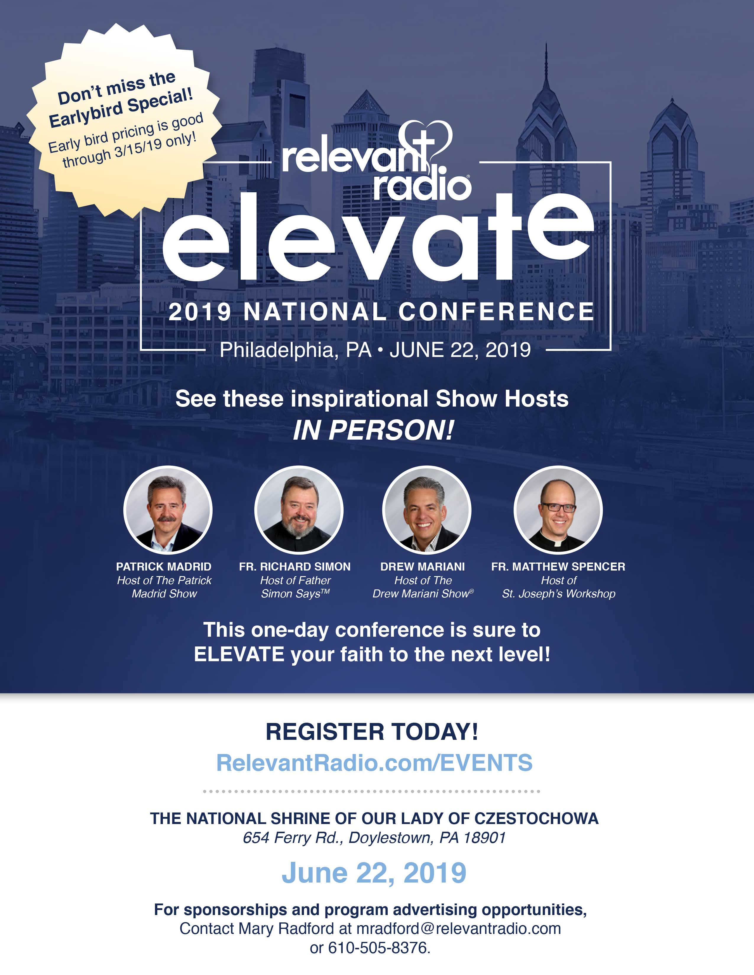 PA: Relevant Radio National ELEVATE Conference at the National Shrine of Our Lady of Czestochowa
