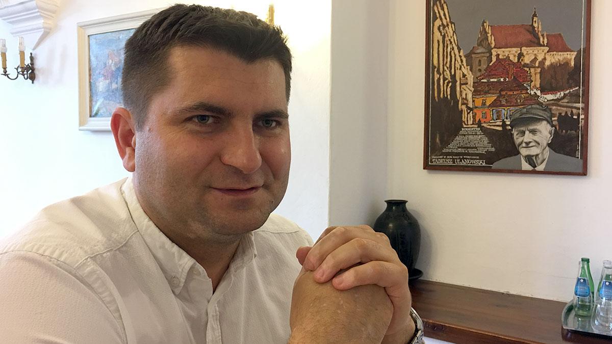 Artur Pomianowski zna Kazimierz od dziecka. Wygrał wybory na burmistrza idąc z własnego komitetu wyborczego. Foto: Patryk Małecki