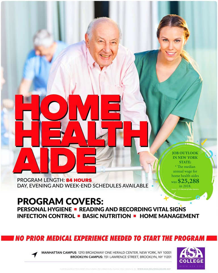 Home Health Aide Program at ASA College in New York