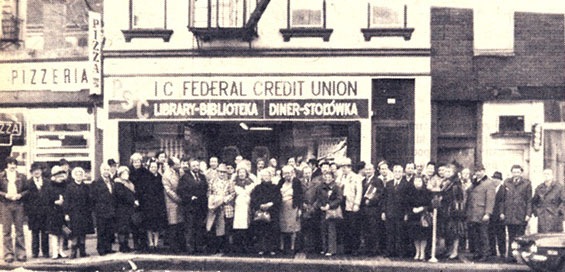 PSFCU first headquarters at cafeteria in Brooklyn - March 1977 (photo: Nowy Dziennik/ PSFCU)
