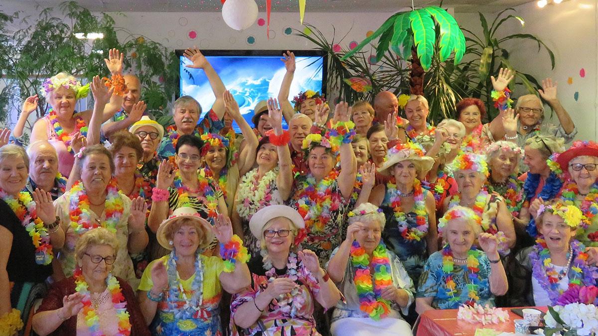 Hawajski Dzień w Bursztynowym Klubie Amber Health na Greenpoint, NY