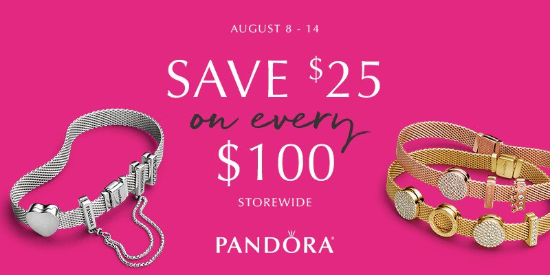 Last Day: Amazing Summer Savings at Pandora Stores NYC