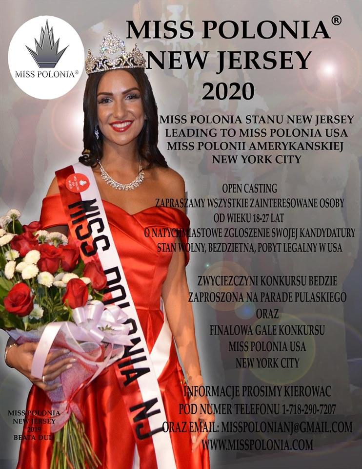Miss Polonia New Jersey 2020 - wybory 14 września 2019
