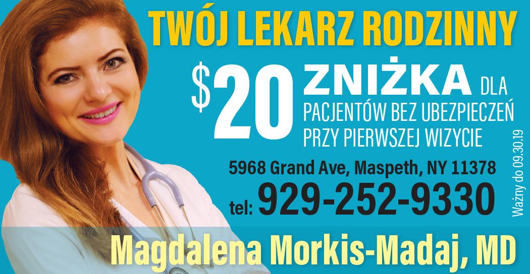 Magdalena Morkis-Madaj, MD - twój lekarz rodzinny w Nowym Jorku