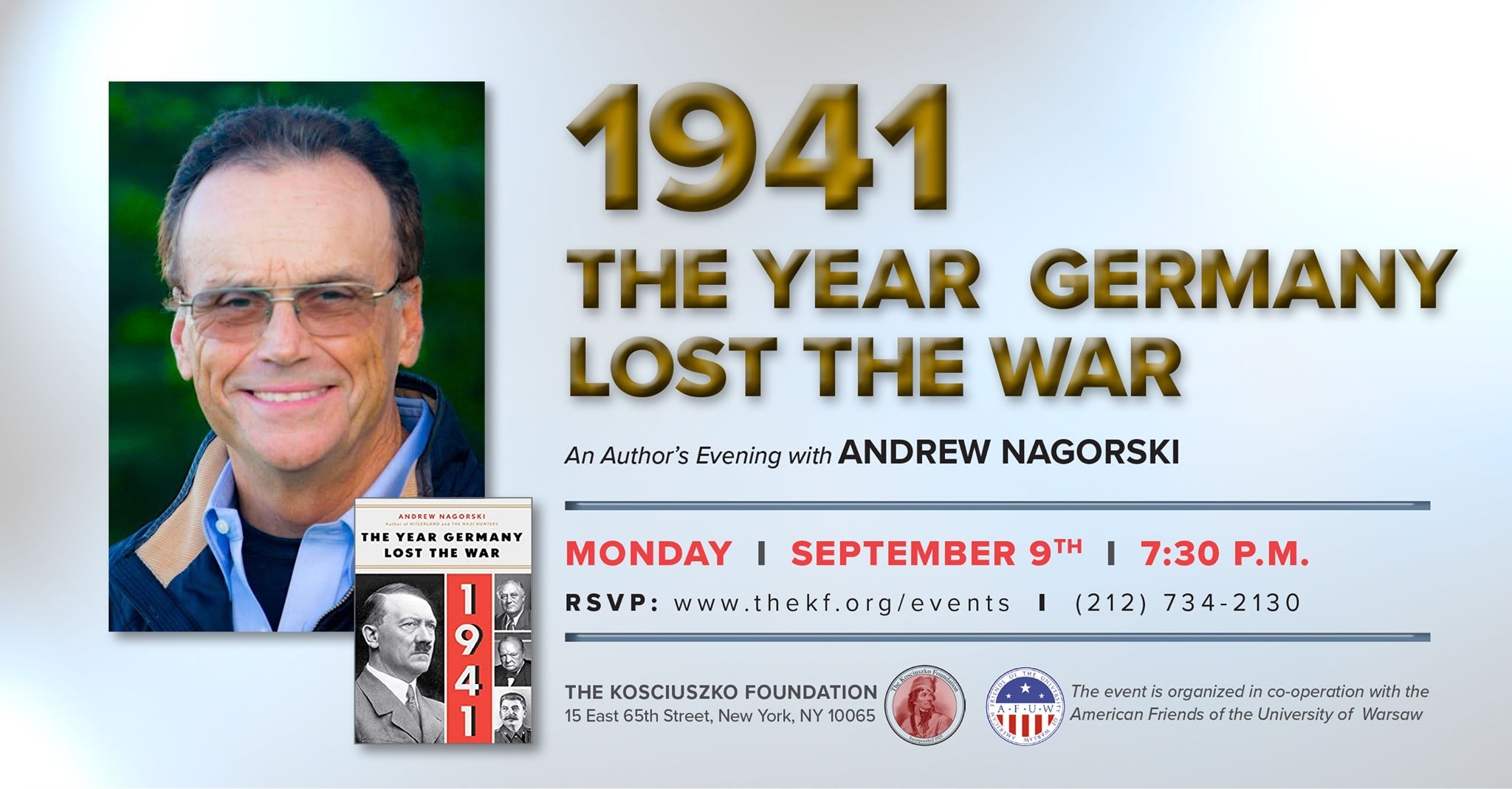 """Andrew Nagorski and Book """"1941: The Year Germany Lost the War"""" in NYC"""