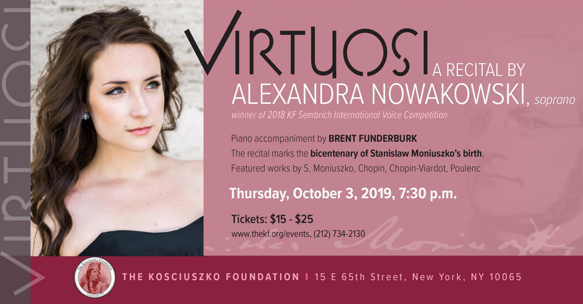 Recital by Alexandra Nowakowski in New York
