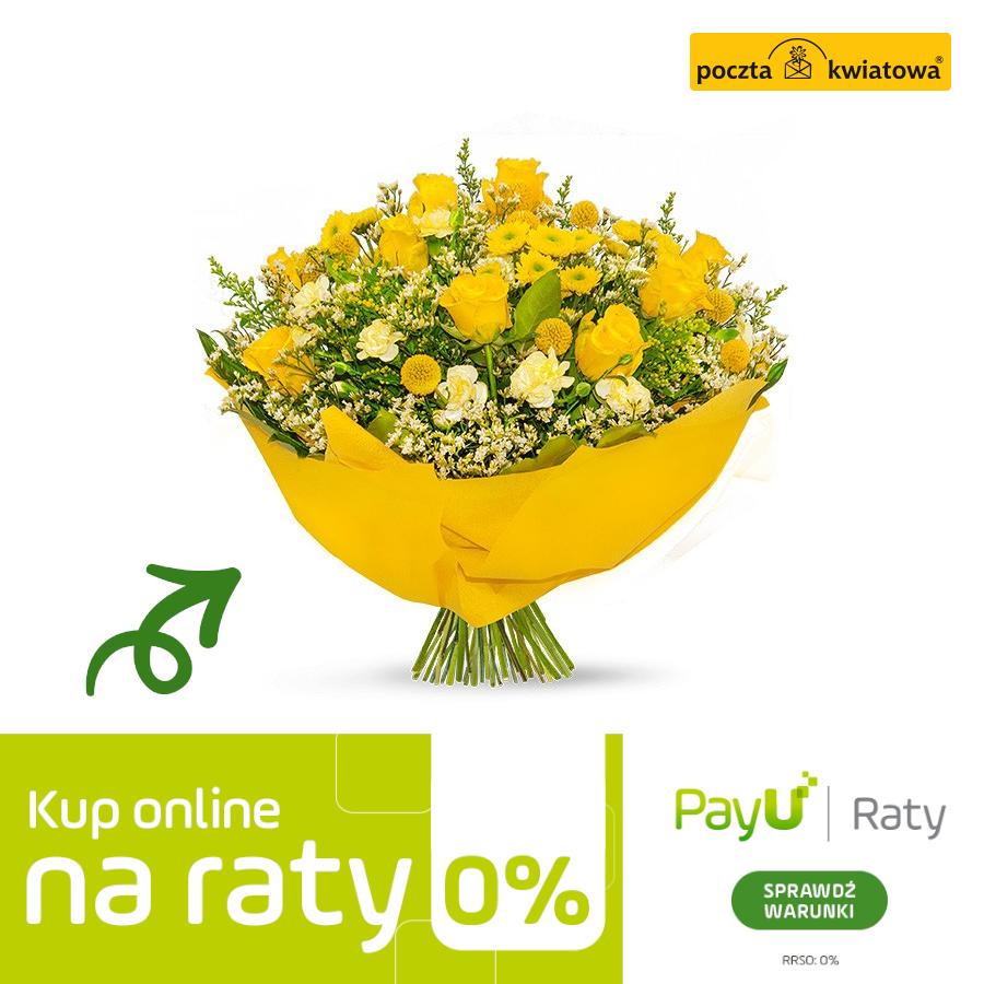 Polskie kwiaty z dostawą z USA do Polski - oferta specjalna do 15 września