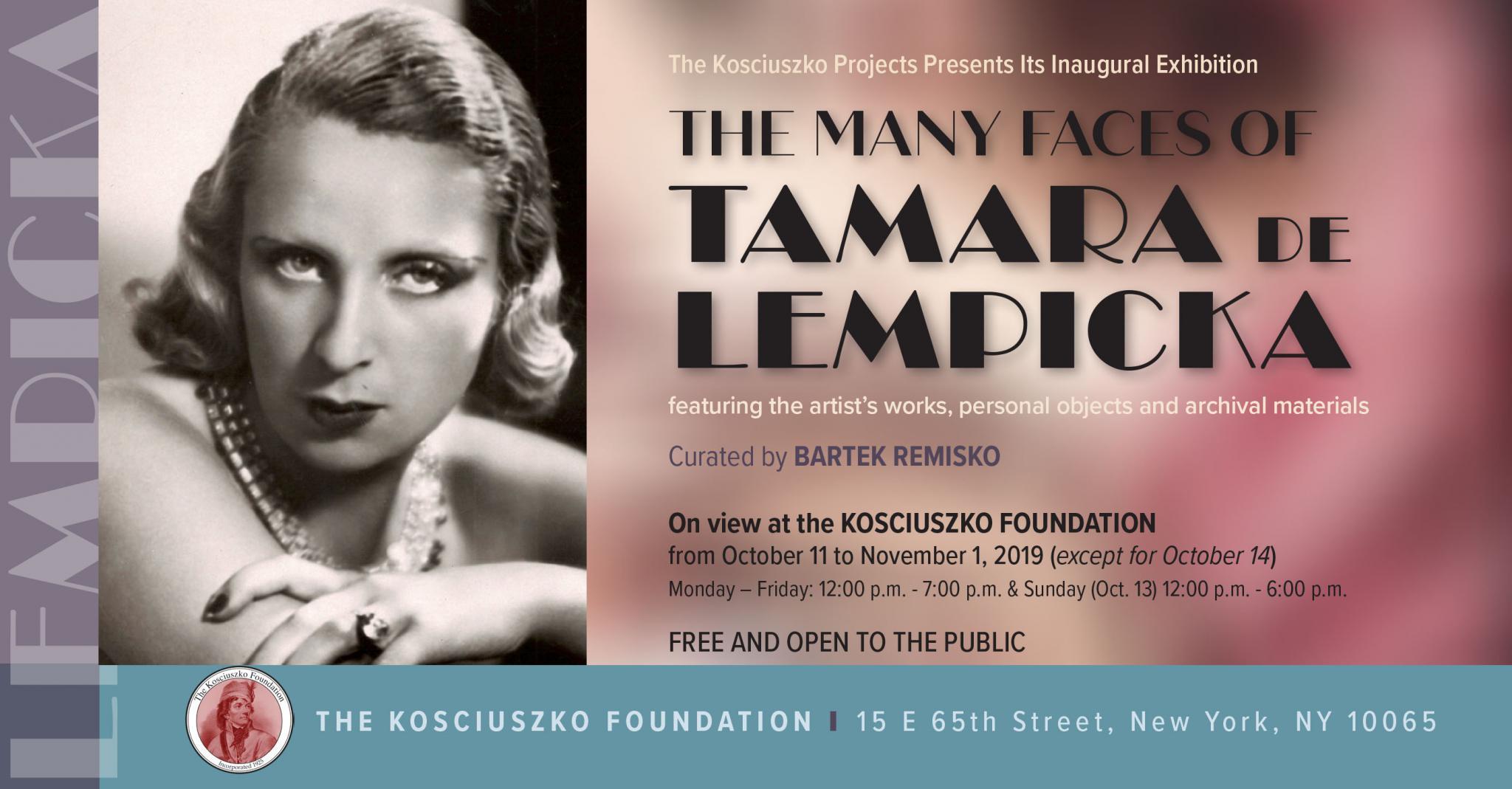 Kosciuszko Projects Exhibition in New York and The Many Faces of Tamara de Lempicka